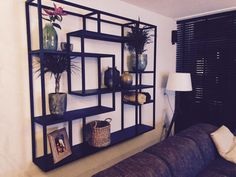 – Ilse en Ruben – – Menzil – Storage boxes come in very handy in keeping all our stuff. Rotterdam, Bookshelves, Bookcase, Concrete Interiors, Studio Apt, Starter Home, Steel Wall, Tv Unit, Entryway Tables