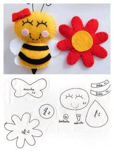 Moldes para hacer abejas de fieltro06