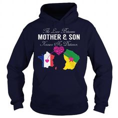 This matching mother and son shirt will be a great gift for you or your friend: THE LOVE BETWEEN MOTHER AND SON - France French Guiana Tee Shirts T-Shirts