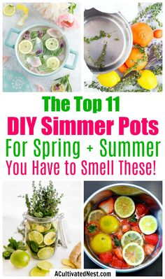 11 DIY Simmer Pot Recipes for Spring and Summer- An easy (and all-natural) way to make your home smell great this spring and summer is with these wonderful smelling DIY simmer pot recipes! Homemade Potpourri, Simmering Potpourri, Stove Top Potpourri, Potpourri Recipes, Safe Cleaning Products, Household Cleaning Tips, Cleaning Recipes, Cleaning Hacks, Daily Cleaning