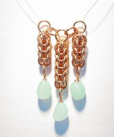 Make A Full Persian 6-1 Pendant With Lovely Aqua Jasper Pebbles