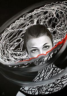 Anna Rączka ,,Carmen''olej na płótnie 100x70 cm Black Canvas, Saatchi Art, Anna, Black And White, Art Prints, Drawings, Canvas Size, Paintings, Art Impressions