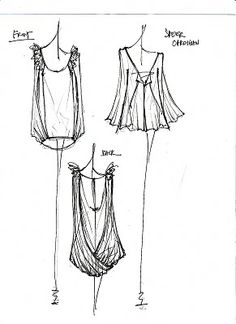 fashion design sketches - fashion sketchbook illustrations; dress drawings
