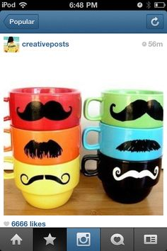 Mustache mugs, they just need to be bigger :)