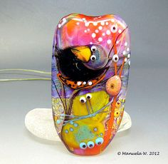The Sentinel  handmade lampwork glass focal by ManuelasGlassArt