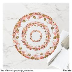 Bed of Roses Cake Stand Party Napkins, Rose Cake, Kitchen Dishes, Fancy Cakes, Party Accessories, Custom Cakes, Let Them Eat Cake, White Ceramics, Pink And Green