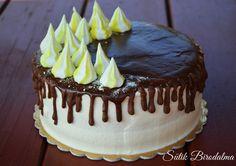 SÜTIK BIRODALMA: Fehér piskótás citromtorta Creative Cakes, Cakes And More, Mousse, Cake Recipes, Food And Drink, Pudding, Birthday Cakes, Caramel, Easy Cake Recipes