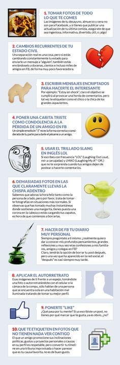 Evita tener mal gusto en FaceBook #Infografía