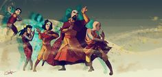 The Four Elements Specialized | by Ctreuse109 | Air | The Last Airbender | Legend of Korra | Avatar
