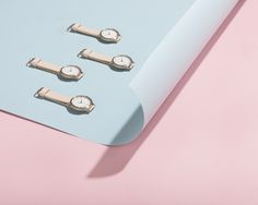 Pink & Blue tones w/ 5TH photographer Cricket Studio featuring our Rose-Gold & Peach watch. @the_5th www.the5th.co