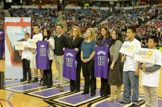Great night at the Sacramento Kings Game, recognizing three Health Happens Heroes from the Sacramento BHC Community - Paul Hein, Heather Deckard and Liz Stewart.
