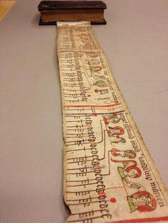 Ever seen a medieval roll hidden inside a book? Meter-long farmer's calendar kept in a binding (HagueKB130E26). - Erik Kwakkel (Twitter)