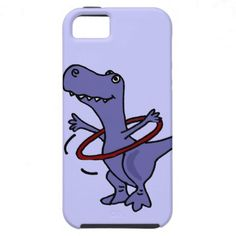 Funny T-rex Dinosaur Using Hula Hoop iPhone 5 Cover #dinosaurs #funny #hulahoops #animals #iphone5 #covers #zazzle #petspower