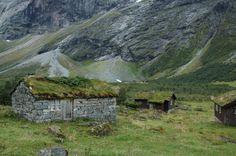 Peaceful seter in the Norwegian mountain
