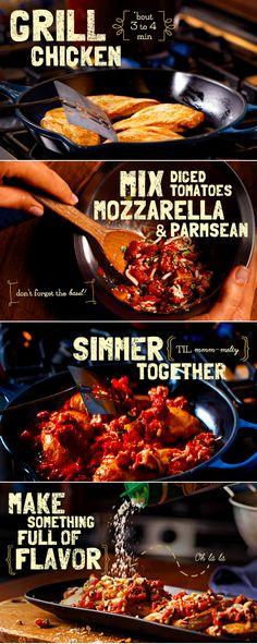 20-Minute Bruschetta-Chicken Skillet