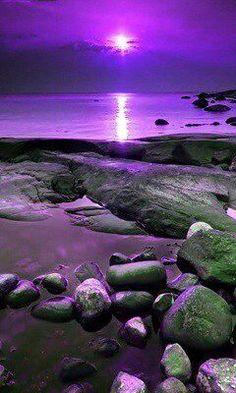 """Purple Aesthetic Discover A New Foundation After Rock Bottom A New Foundation After """"Rock Bottom"""" Purple Love, All Things Purple, Shades Of Purple, Purple Sunset, Purple Stuff, Purple Beach, Pink, Beautiful Sunset, Beautiful World"""