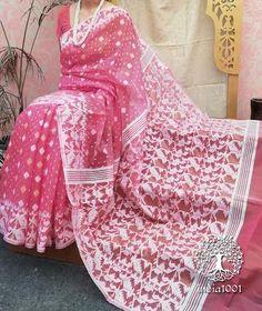 Bollywood Saree, Bollywood Fashion, Dhakai Jamdani Saree, Fancy Sarees, Pink Saree, Cotton Saree, Blouse Designs, Ready To Wear, Celebrity Style