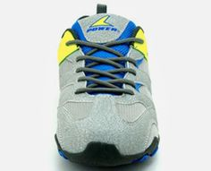 Grey Textile Synthetic Power Athletics Shoes For Boys