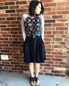 Lularoe randy knotted with a lularoe Madison skirt