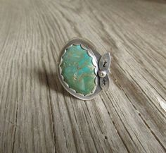 Turquoise Sterling Silver Ring by QuietTimeJewelry