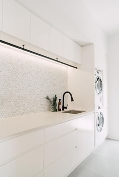 Laundry Bathroom Combo, Mudroom Laundry Room, Laundry Room Layouts, Laundry Room Remodel, Laundry Room Organization, Laundry Hanger, Laundry Nook, Modern Laundry Rooms, Laundry Room Inspiration