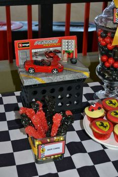 Ferrari inspired / Racecars Birthday Party Ideas | Photo 3 of 21