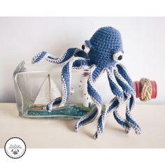 Handmade crochet amigurumi octopus/ squid /kraken