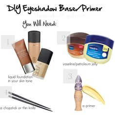 DIY Eyeshadow Base/Primer; Part One!, created by thesparks on Polyvore