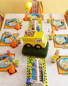 Construction party kids truck