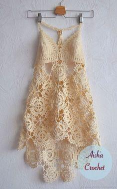 Пляжные платья ручной работы. Пляжный сарафан. Aisha Crochet. Ярмарка  Мастеров. Вязаный сарафан 0f5248621d11