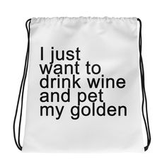 Now available Wine + Golden Dog... Get it here http://necklace.com/products/wine-golden-dog-drawstring-bag?utm_campaign=social_autopilot&utm_source=pin&utm_medium=pin #necklace #necklaces #jewelry #fashion