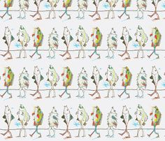 Walking FIsh fabric by boris_thumbkin on Spoonflower - custom fabric