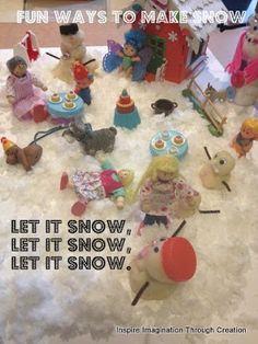 Inspire imagination through creation: let it snow, let it snow, let it snow