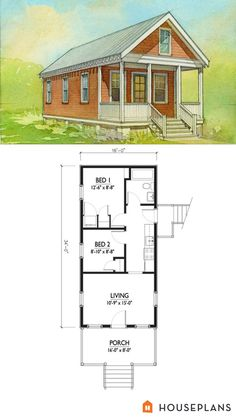 Tiny House Plans 725783296177328689 - small katrina cottage floor plan and elevation 2 br houseplan number Source by annevjoly Cottage Style House Plans, Cottage Floor Plans, Tiny House Cabin, Cottage Style Homes, Tiny House Living, Tiny House Plans, Tiny House Design, Tiny Houses, Tiny House 2 Bedroom