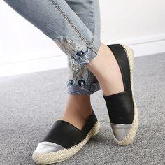 half off 92e21 1418c Aliexpress.com  Comprar 2016 Nuevas de la manera mujeres ocasionales zapatos  planos de deslizamiento