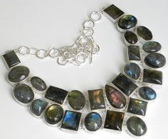 Gemstone : Labradorite,,Length : 18 Inches,,Total Weight: 172.0 gms Our Price 38 $USD
