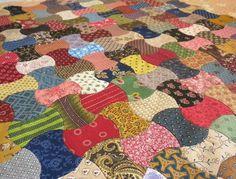 applecore quilt, scrap, hand piece