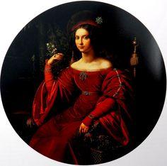 Carl Wilhelm Wach,Portret Anny Elżbiety hr. Raczyńskiej1827