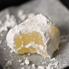 Turkish Delight or Loukoum  450 g/ 1 lb caster sugar  1 tsp lemon juice  145 g/ 5 oz corn starch/corn flour/Maizena  1/2 tsp cream of tartar  2 tsp rose water.  To finish:  250 g/ 9 oz icing  50 g/ 1,75 oz corn starch/corn flour/Maizena