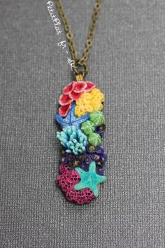 Long Coral Reef Necklace