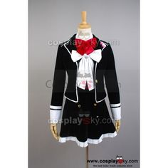 DIABOLIK LOVERS Yui Komori Cosplay Costume ❤ liked on Polyvore featuring costumes, black halloween costumes, black costume, cosplay halloween costumes, role play costumes and cosplay costumes