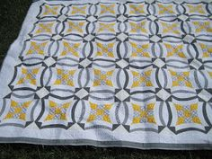 Esther's Urban Nine Patch block in full  Quilt by Sew Kind of Wonderful, via Flickr