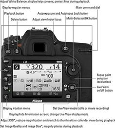 Nikon DSLR cheat sheet rear view of Nikon D7200