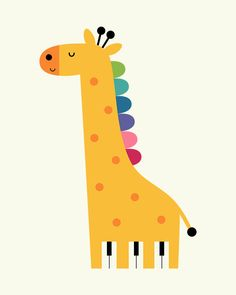 Giraffe Piano - Life is like a piano. White keys are happy moments. Black keys are sad moments. Just remember that you need both to make sweet and beautiful music : )