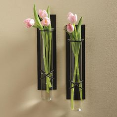Love these wall vases