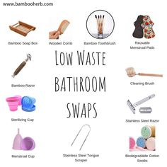 Here are a few options for zero-waste washroom supplies! Any suggestions for more zero-waste bathroom essentials? Reusable Menstrual Pads, Menstrual Cup, Green Goddess Dressing, Waste Reduction, Soap Boxes, Bathroom Essentials, Free Products, Washroom, Sustainable Living