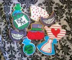 Alice in Wonderland sugar cookies ~ The Blue Cottage