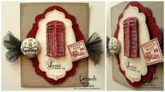 Stampin up English phone booths.  Love the 3D look of the booths!!