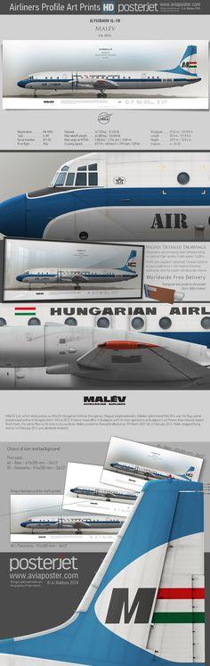 Ilyushin Il-18 Malev HA-MOG | www.aviaposter.com | #aviation #jetliner #airplane #pilot #aviationlovers #avgeek #jet #airport #pilotlife #cabincrew
