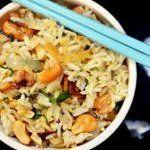 Brown Rice Bowl with Lemongrass, Tofu and Cashews